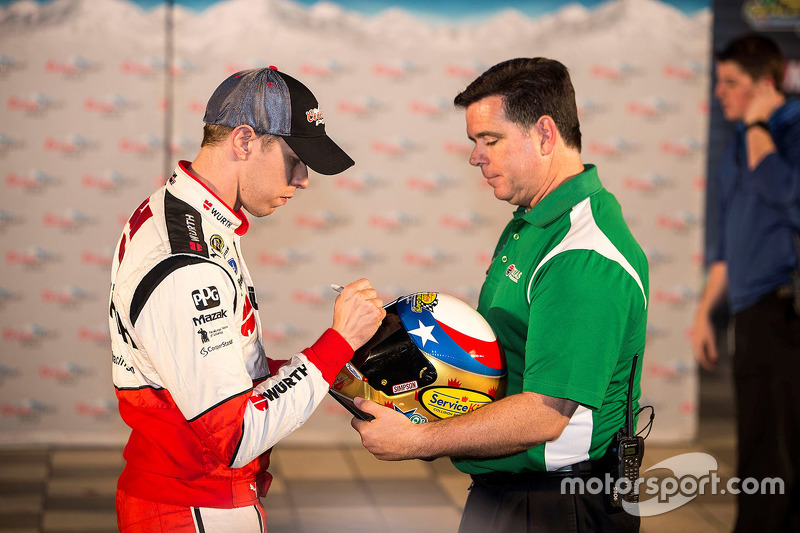 Polesitter Brad Keselowski, Team Penske Ford