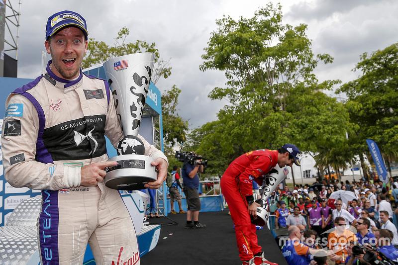 Podium: second place Sam Bird, DS Virgin Racing Formula E Team