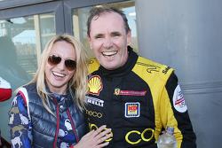 #181 Ineco - MP Racing Ferrari 4548: Erich Prinoth festeggia la vittoria