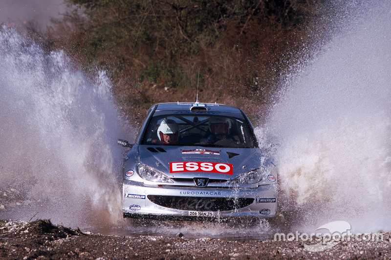 Marcus Gronholm y Timo Rautiainen, Peugeot Sport Peugeot 206 WRC