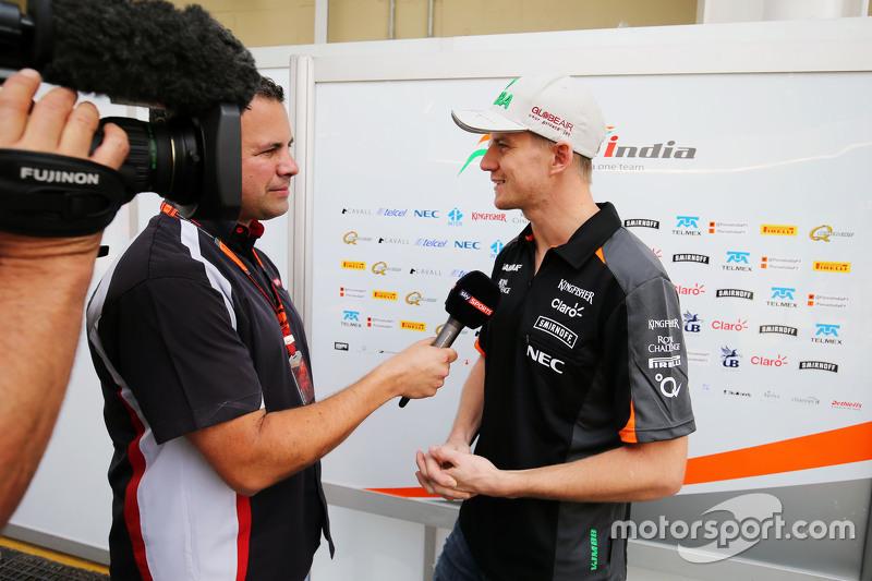 Ніко Хюлкенберг, Sahara Force India F1 з Тед Кравітц, Sky Sports піт-лейн Репортер