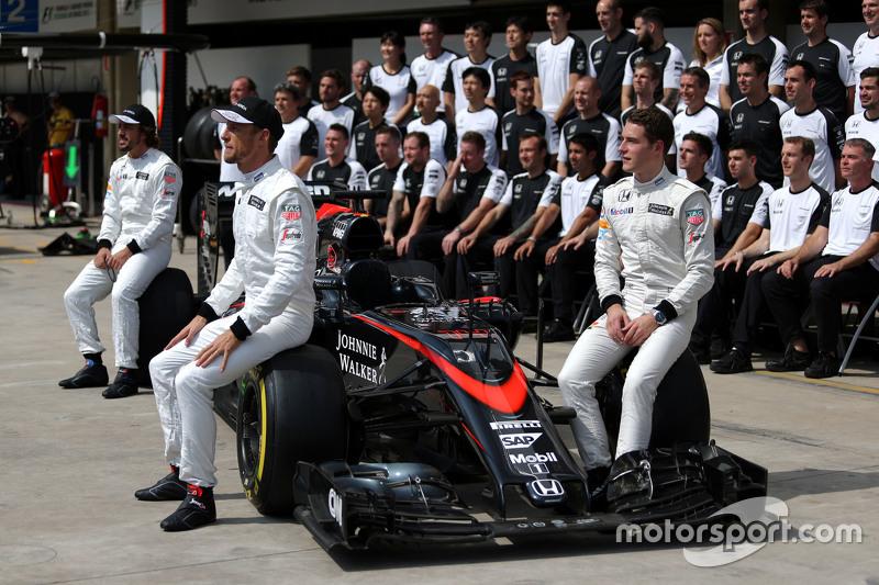 Jenson Button, McLaren Honda, Fernando Alonso, McLaren Honda e Stoffel Vandoorne