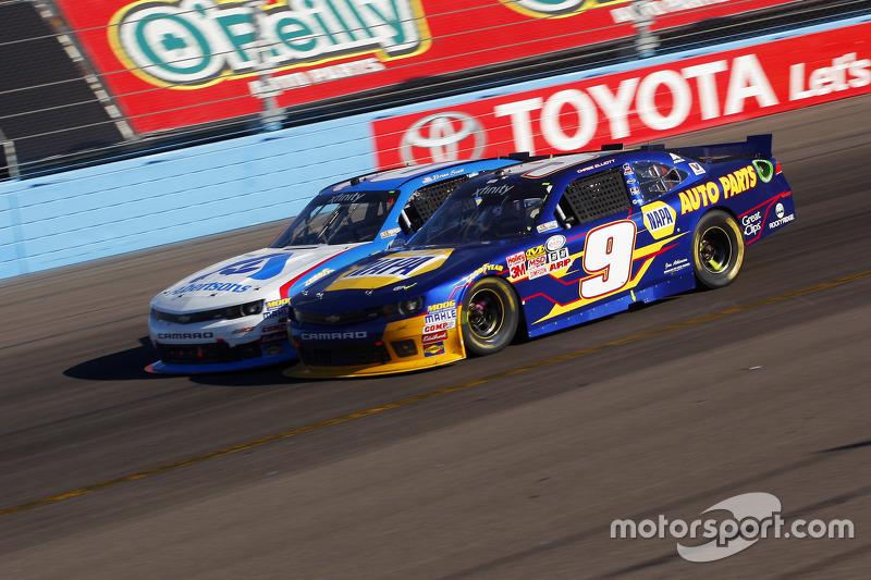 Чейз Елліот, JR Motorsports Chevrolet та Brian Sott, Річард Чілдресс Racing Chevrolet
