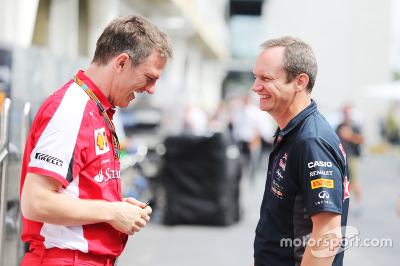 James Allison, Ferrari, Technischer Direktor Chassis, mit Paul Monaghan, Red Bull Racing, Chefingeni