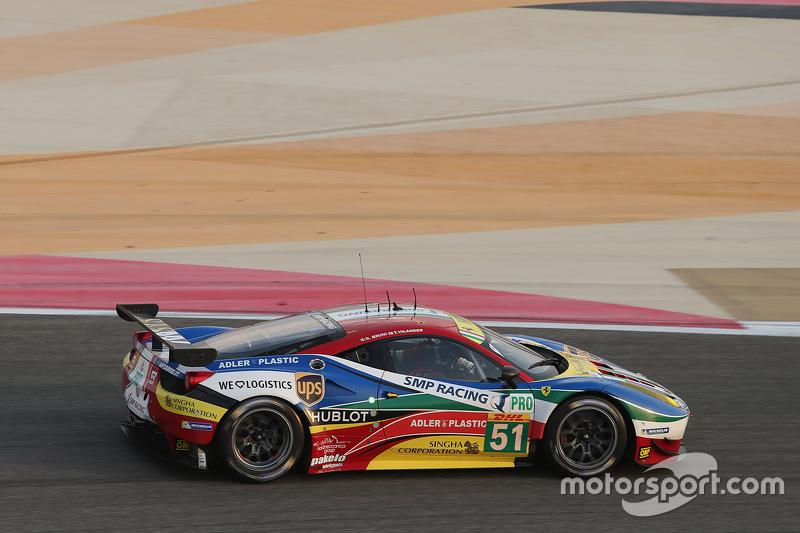 #51 AF Corse, Ferrari 458 GTE: Gianmaria Bruni, Toni Vilander