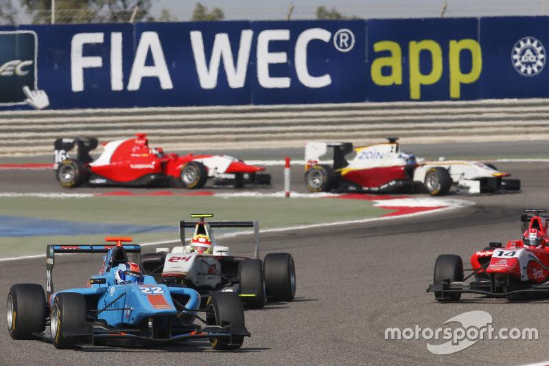 Ralph Boschung, Jenzer Motorsport leads Alex Palou, Campos Racing