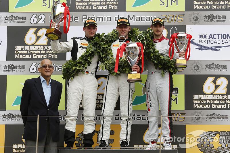 Podium: winner Stefan Mücke, Craft-Bamboo AMR, second Maro Engel, Mercedes AMG Driving Academy, thir