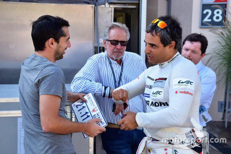 Juan Pablo Montoya mit Neel Jani, Porsche Team