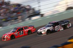 Justin Allgaier, HScott Motorsports Chevrolet; Matt Dibenedetto, BK Racing Toyota