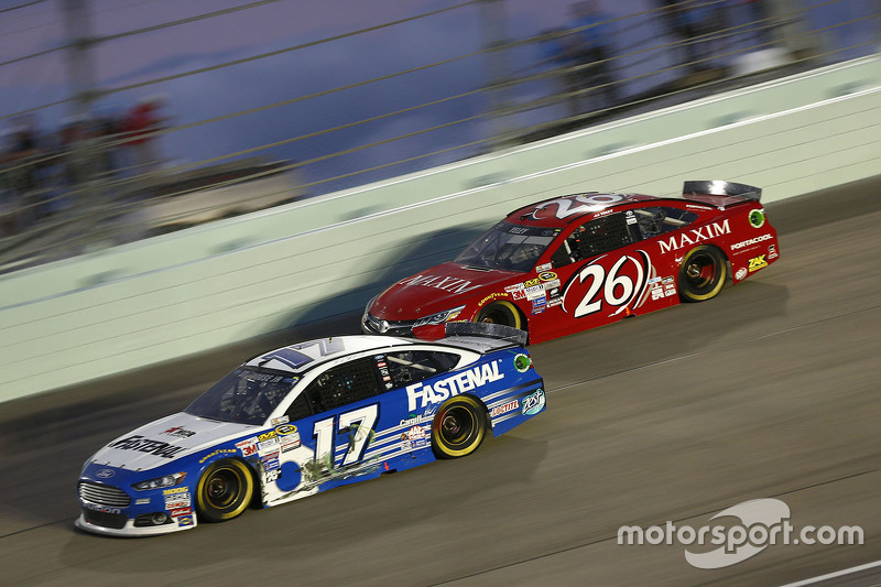 Ricky Stenhouse Jr., Roush Fenway Racing Ford and J.J. Yeley, BK Racing Toyota