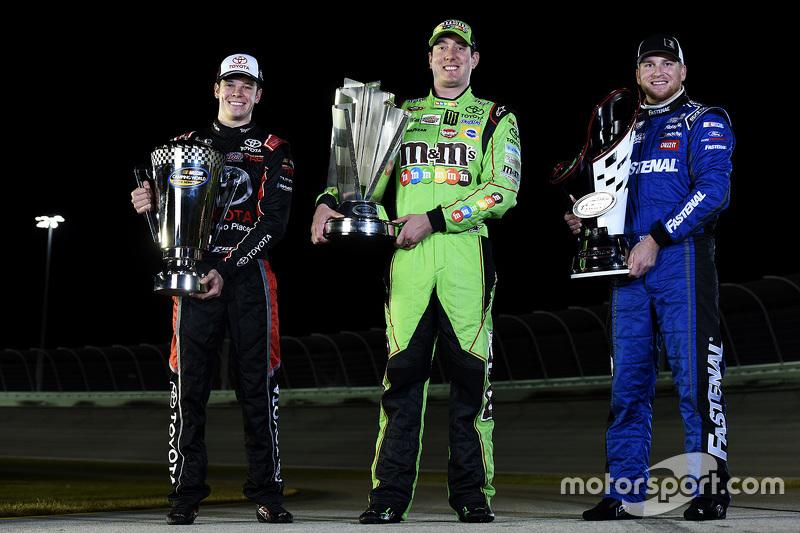 1. NASCAR Truck Erik Jones, 1. NASCAR Sprint-Cup Kyle Busch, 1. NASCAR Xfinity Chris Buescher