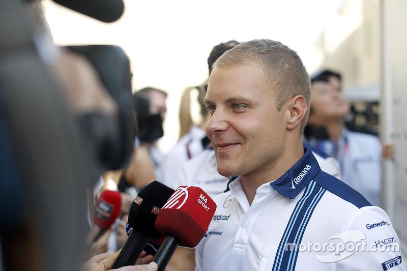 Valtteri Bottas, Williams, mit der Presse