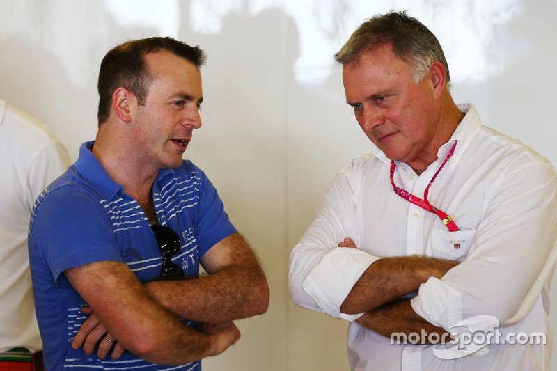 (L to R): Stephen Fitzpatrick, Manor Marussia F1 Team Investor with Dave Ryan, Manor Marussia F1 Team Racing Director
