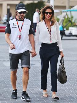 Fernando Alonso, McLaren con la sua fidanzata Lara Alvarez