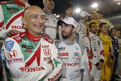 Gabriele Tarquini, Honda Civic WTCC, Honda Racing Team JAS, Jose Maria Lopez, Citroën C-Elysée WTCC, Citroën World Touring Car team
