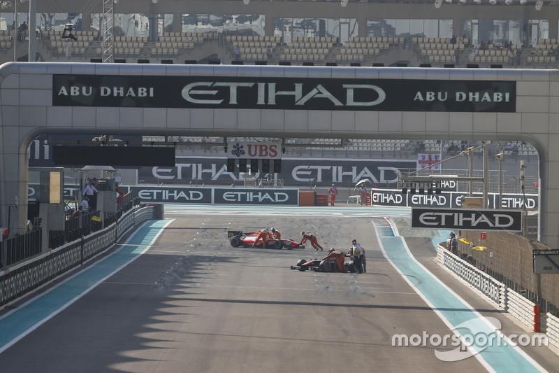 Die Autos von Stoffel Vandoorne, ART Grand Prix, und Rene Binder, MP Motorsport, werden zurück in di