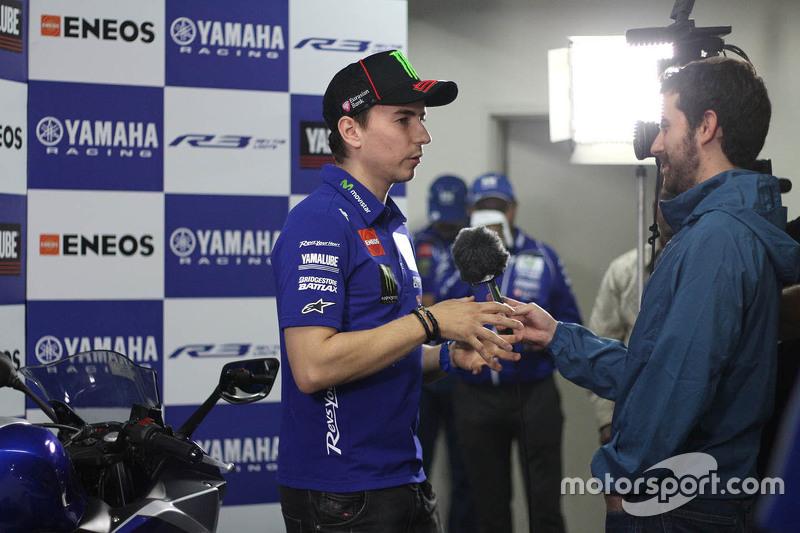 Jorge Lorenzo, Yamaha Factory Racing, mit der Presse