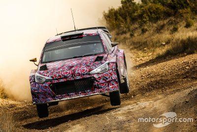 2016 Hyundai i20 WRC gravel testing