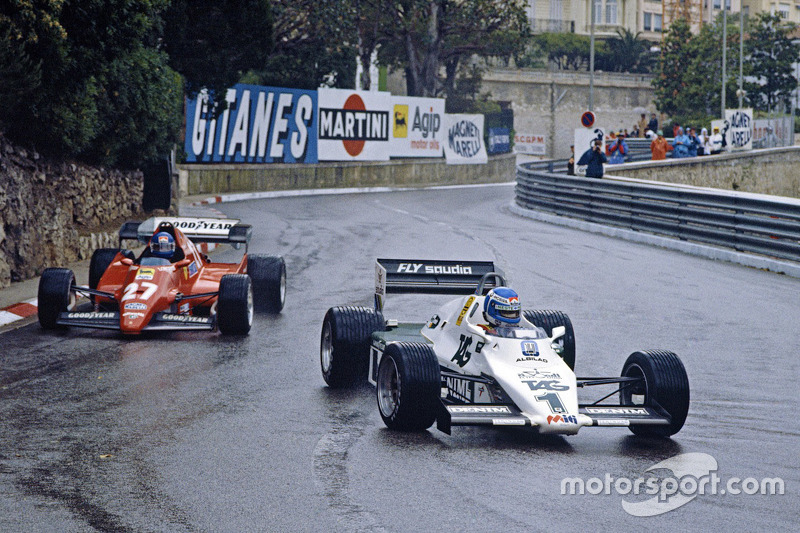 Keke Rosberg, Patrick Tambay'ın önünde