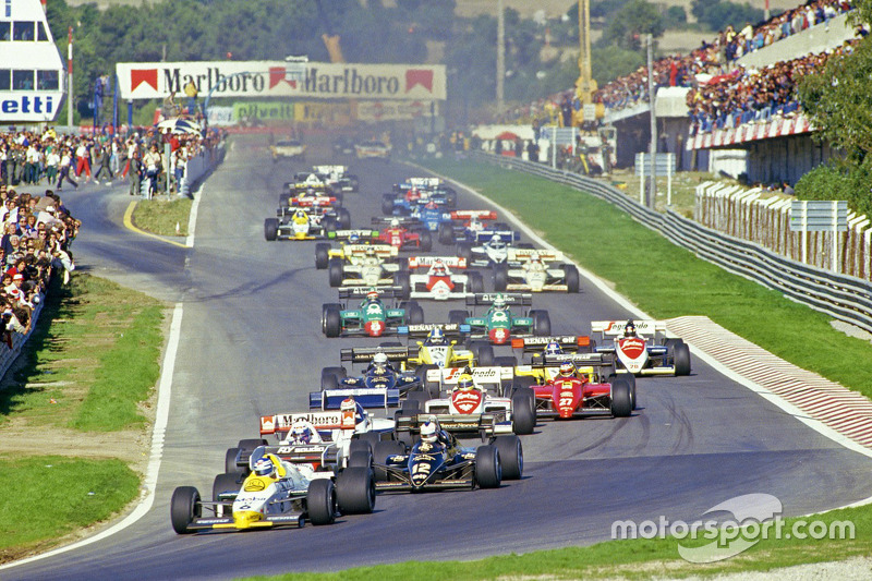 Start: Keke Rosberg, Williams leads