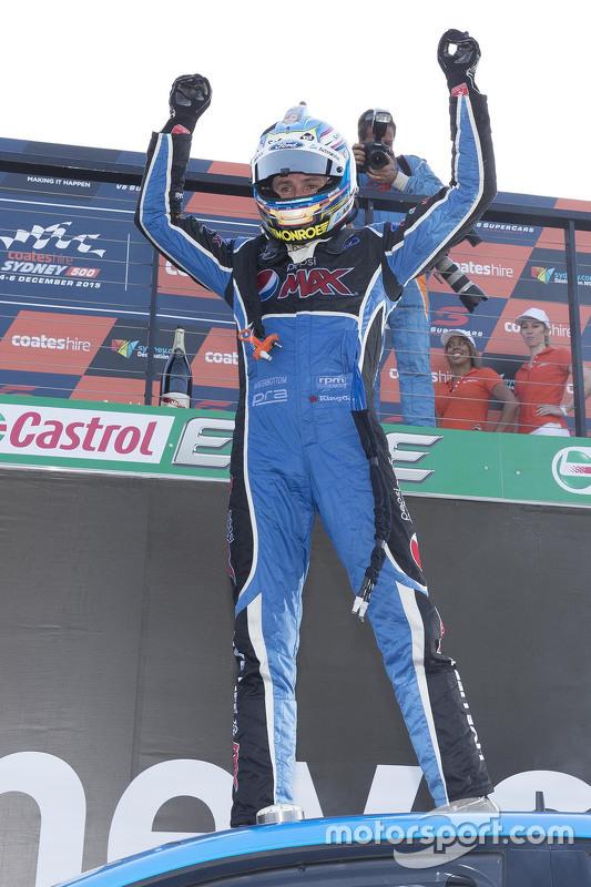 2015 V8 Supercars Champion Mark Winterbottom, Prodrive Racing Australia, Ford, Parc Ferme