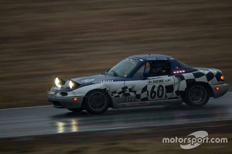 #60 A+ Racing Old Timers Mazda Miata: Dion Johnson, Richard Lucquet, David Gehringer, Doug Clark, Scott Morton