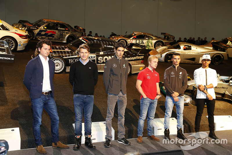 Luca Ludwig, Sebastian Asch, Esteban Ocon, Felix Rosenqvist, Pascal Wehrlein, Lewis Hamilton