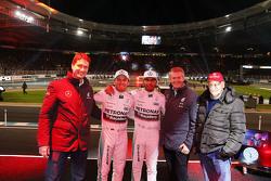 Ola Källenius, Nico Rosberg, Lewis Hamilton, Prof. Dr. Thomas Weber, Niki Lauda