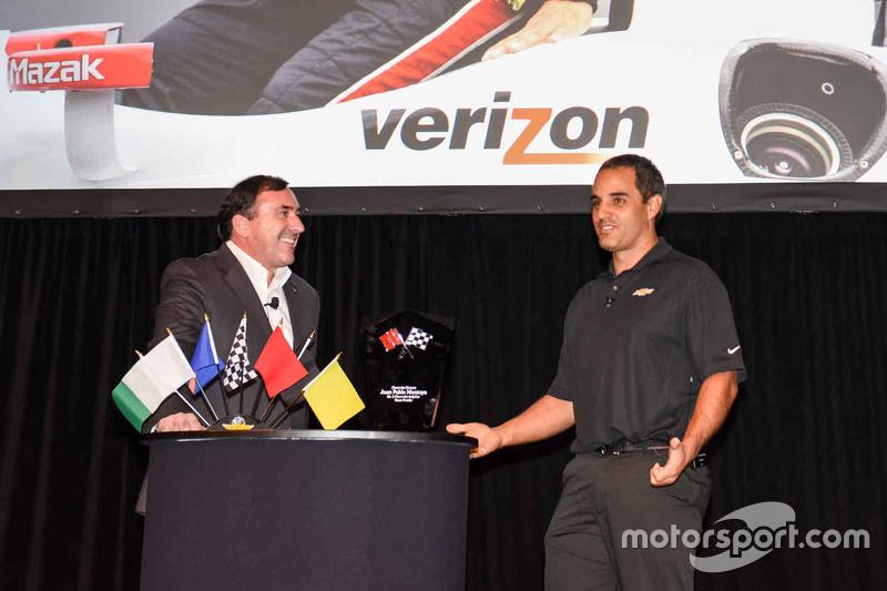 Juan Pablo Montoya spricht über seinen Sieg beim Indy500