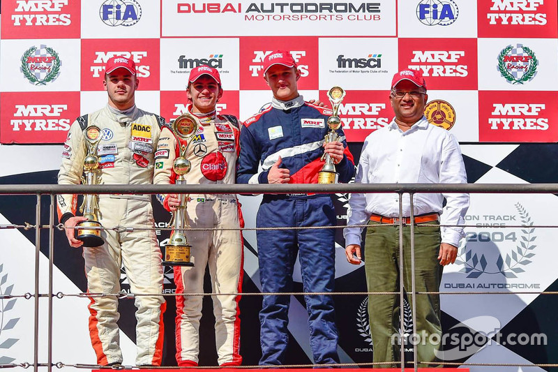 Podium: Winner Pietro Fittipaldi, second place Alessio Picariello, third place Nikita Troitskiy