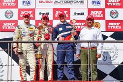 Podium: Winner Pietro Fittipaldi, second place Alessio Picariello, third place Nikita Troitskiy