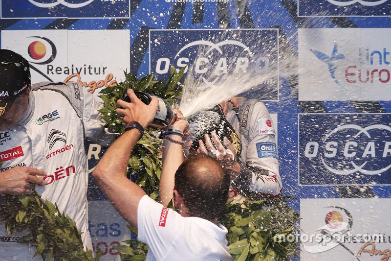 Podium:race winner Ma Qing Hua, Citroën World Touring Car team