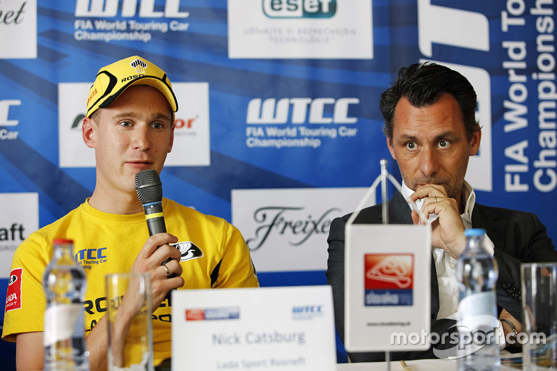 Press conference: Nicky Catsburg, Lada Sport Rosneft and Rob Huff, Lada Sport Rosneft