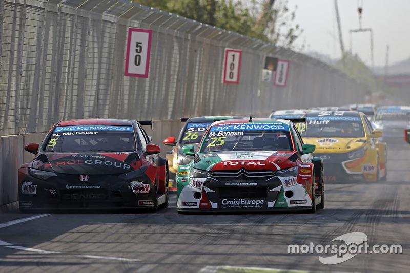 Mehdi Bennani, Citroën C-Elysee WTCC, Sébastien Loeb Racing ve Norbert Michelisz, Honda Civic WTCC, Zengo Motorsport