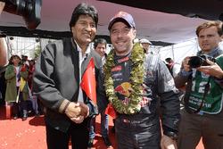 Sébastien Loeb, Peugeot Sport avec le Président de la Bolivie, Evo Morales