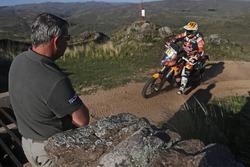Etienne Lavigne en la etapa final del Dakar