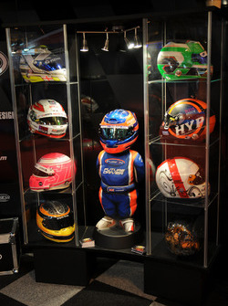 Helmet and figure display
