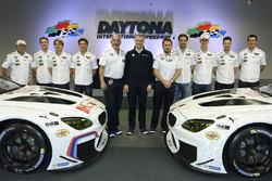 Jens Marquardt, BMW Motorsport Direktor, Augusto Farfus, Dirk Werner, Bruno Spengler, Bill Auberlen,