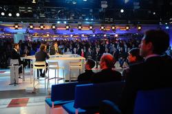 Sfeerbeeld van de persconferentie
