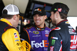 Ryan Newman, Richard Childress Racing, Chevrolet; Denny Hamlin, Joe Gibbs Racing, Toyota; Kurt Busch, Stewart-Haas Racing, Chevrolet