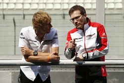 Brendon Hartley, Porsche Team with Andreas Seidl, Team Principal Porsche Team
