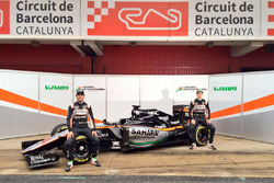 Серхио Перес, Sahara Force India F1 и Нико Хюлькенберг, Sahara Force India F1 представляют машину Sahara Force India F1 VJM09