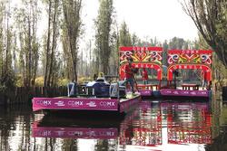 Esibizione Formula E a Xochimilco