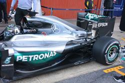 Задняя часть машины Нико Росберга, Mercedes AMG F1 W07