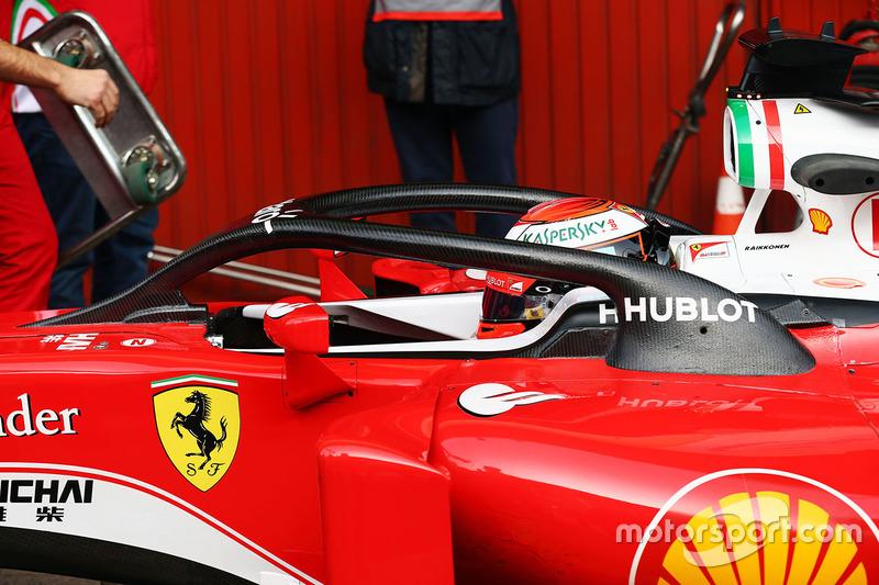Kimi Raikkonen, Ferrari SF16-H Halo Kokpit