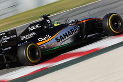 Sergio Perez, Sahara Force India F1 VJM09 running sensor equipment