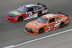 Austin Dillon, Richard Childress Racing Chevrolet; Daniel Suarez, Joe Gibbs Racing Toyota