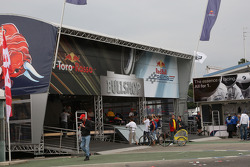 Toro Rosso and Red Bull F1 merchandise area