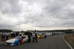 Cars ready for race 1