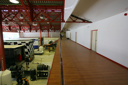 Paddock and team area